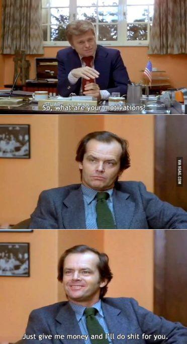 A faire seulement si vous avez la classe de Jack Nicholson^^
